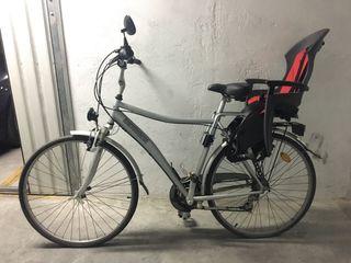 Bicicleta paseo portabebe