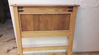 cabecero madera cama 90