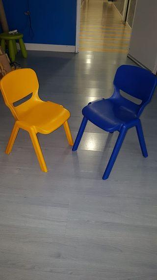 sillas niños de colores