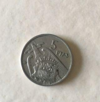 Moneda 5 pesetas 1957 doble Estrella. Error!!
