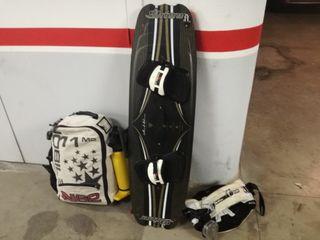 equipo de kitesurf