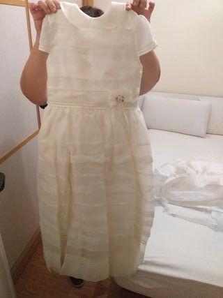 vestido de comunión de rosa clara