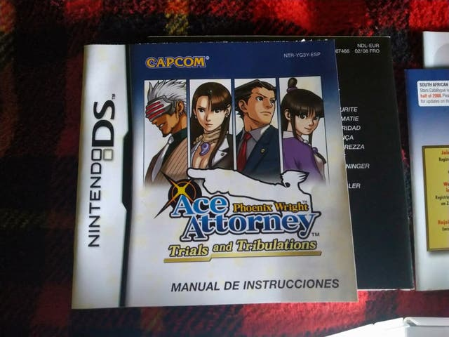 Ace attorney trials and tribulations pal españa