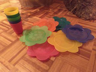Vasos y platos infantiles