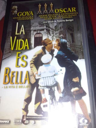 Película de video VHS La vida es bella