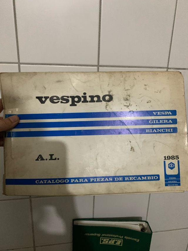 Antiguo catálogo piezas de recambio Vespino 1985