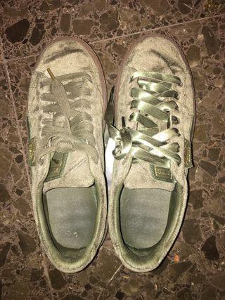 Zapatillas PUMA basket verde militar