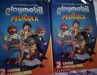 12 sobres Carrefour playmobil