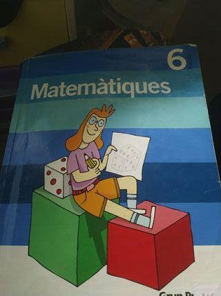 libro Matemáticas 6o de Primaria