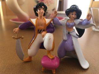 Figuras Aladdin de los años 90.