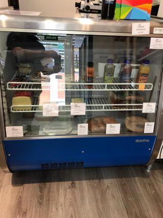 Mostrador expositor refrigerado vitrina infrico