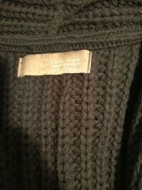 Jersey largo de Zara