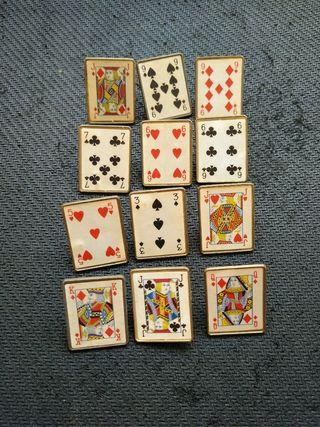pin carta poker naipe lote de pins baraja poker. e
