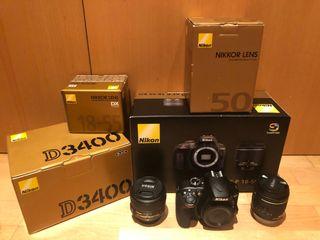 Kit Nikon d3400 (18-55)