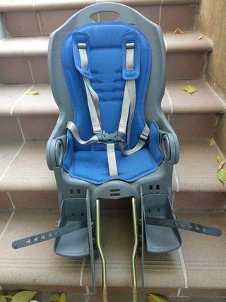 asiento para bebés con adaptador para 2 bicicletas