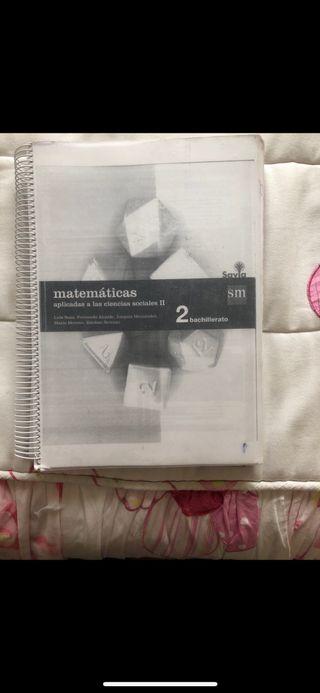 Matemáticas aplicadas a las ciencias sociales 2 bc