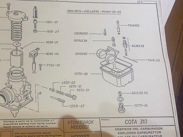 Catalogo de piezas montesa cota 310 y evasión