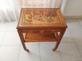 Mesa decoración artesanal