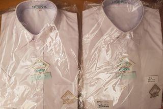 Lote de dos camisas blancas de camarera