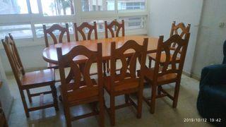 Mesa comedor y sillas rústico provenzal