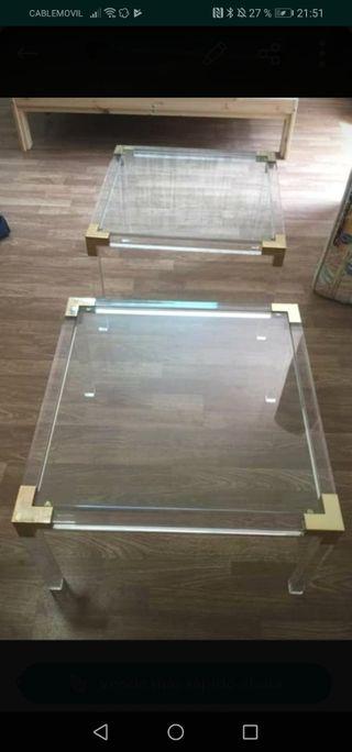 2 mesas de centro mediana auxiliar
