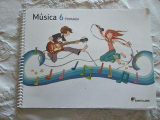 libro de música sexto de primaria editorial Santil