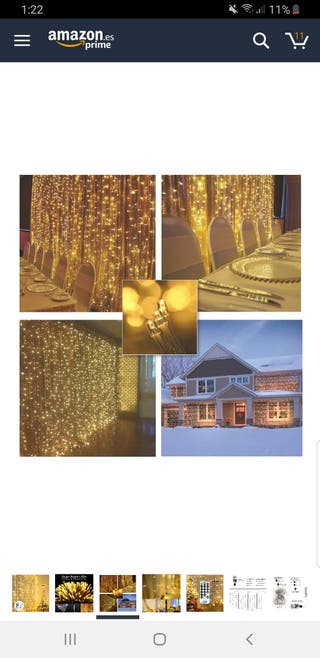 Cortina de luces led
