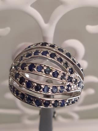 anillo zafiros