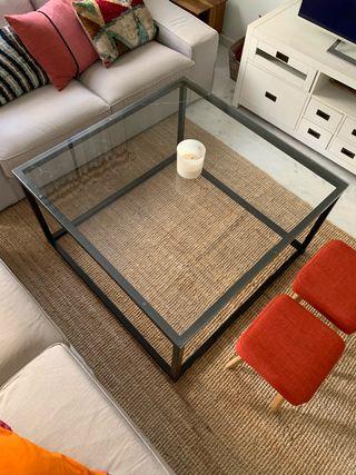 Mesa centro cuadrada de hierro / Mesa camilla