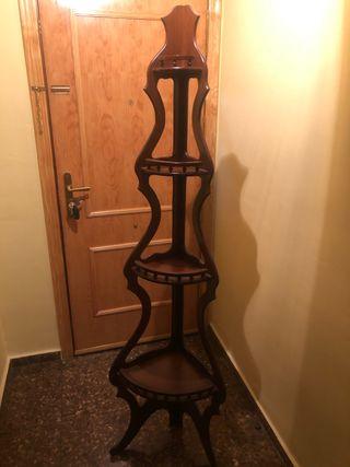 Rinconera esquinera decorativa madera