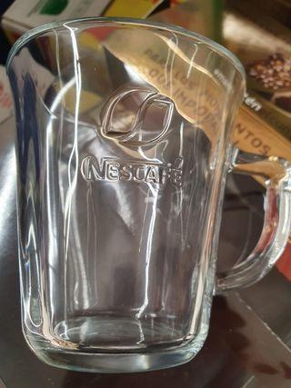 Taza cristal grabada Nescafé