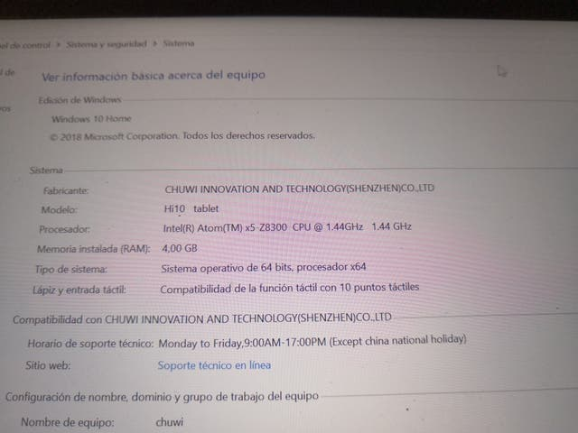 tablet android y ultrabook chuwi hi 10