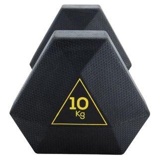 Mancuernas 10kg hexagonales decathlon