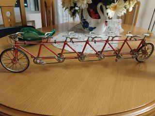 bicicleta tándem decoración