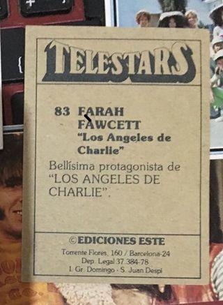 CROMOS COLECCION TELESTARS. AÑOS 70