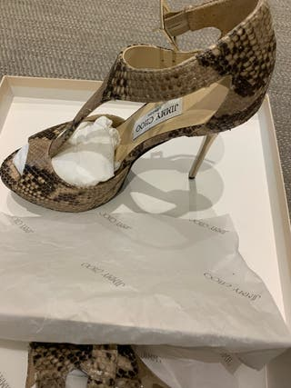 Sandalias Jimmy Choo serpiente 37 y medio