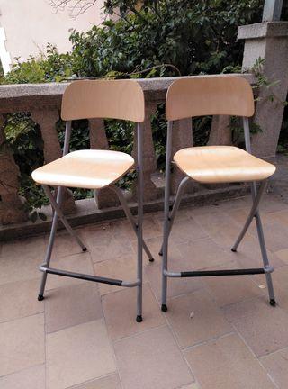 2 sillas plegables de cocina