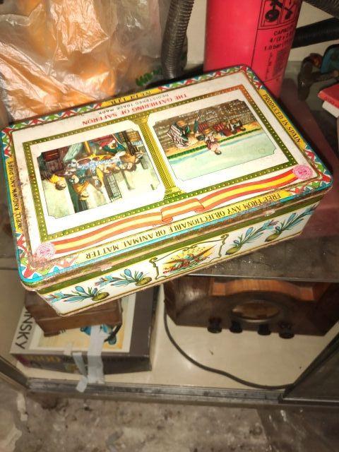 caja de chapa hojalata azafrán