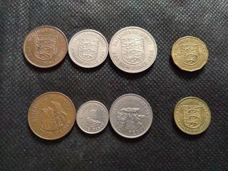 Lote monedas Jersey