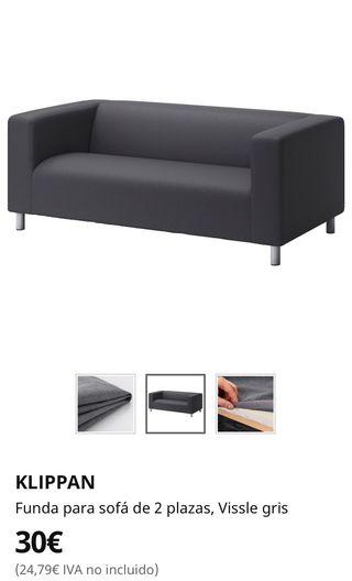 Funda sofá Ikea Klippan gris