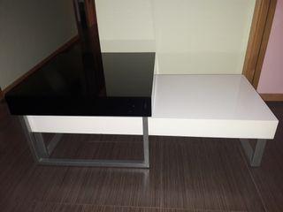 mesa de centro 2 en 1