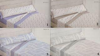 Juegos de sabanas de cama de 135 y 150 cm con 50%