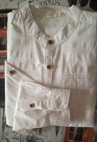 Camisa cuello Mao talla 8