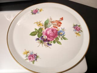 Plato tarta porcelana de Limoges