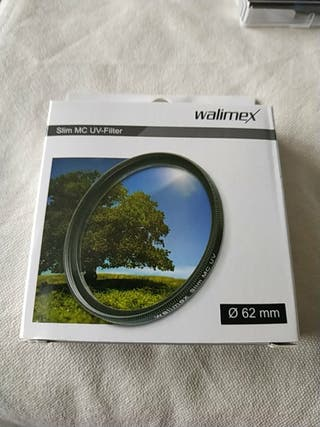 Filtro UV 62 walimex objetivo camara reflex