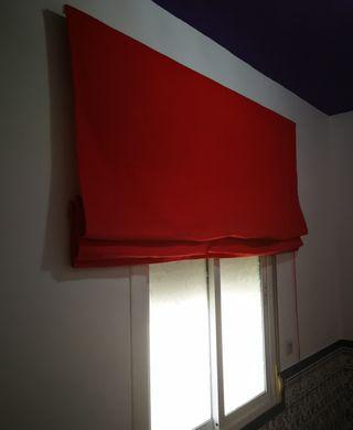 Cortina Estor rojo plegable