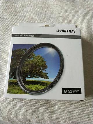 Filtro UV 52 walimex objetivo camara reflex