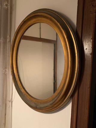 Espejo vintage redondo