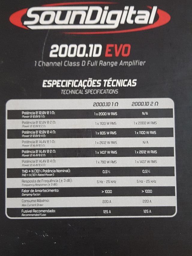 Soundigital 2000.1D EVO 1OHM
