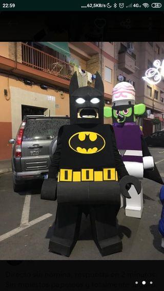 Disfraz adulto Batman y Joker Lego